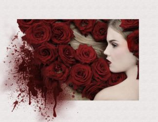 Woman with Roses by saperlipop