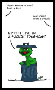 Oscar the Grouch by Bubblecat