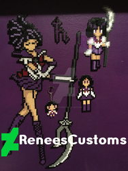 Sailor Saturn Perler Wall by ReneesCustoms
