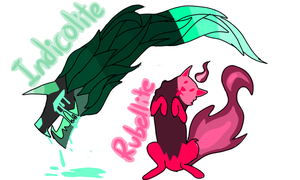 Rubellite and Indicolite- Corrupted SDC by Amblygonite