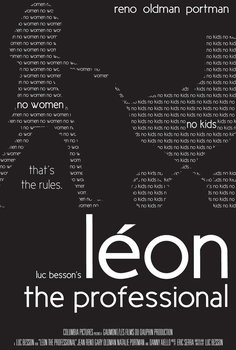 Leon the Professional Poster 1 by Vazguard