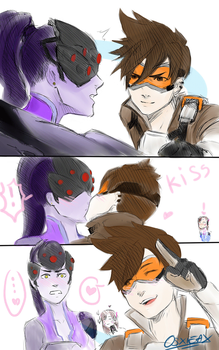 tracer x widowmaker by XieSpace