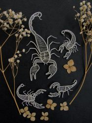 Scorpion brooches by diana-irimie