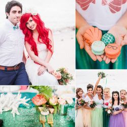 Hipster Mermaid (faux) Wedding on POPSUGAR by TheRealLittleMermaid