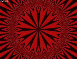 Red and Black Optical Illusion by CarlosAE