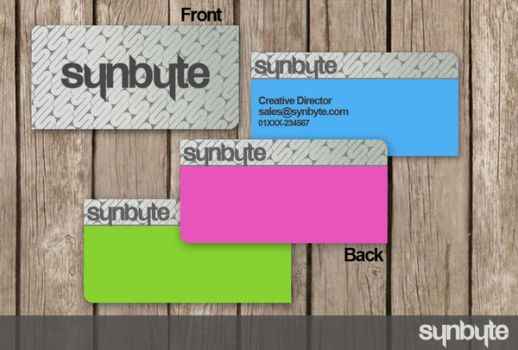 Business card test pt. 1 by synbyte