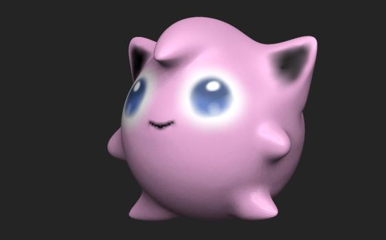 JIGGLYPUFF! Cute POKEMON 3D Sculpt Render by HomelessGoomba
