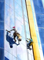 The Window Washers by baglady