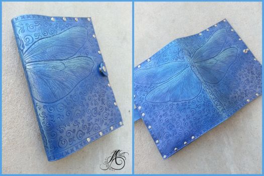 Leather Dragonfly Book Cover by JAFantasyArt