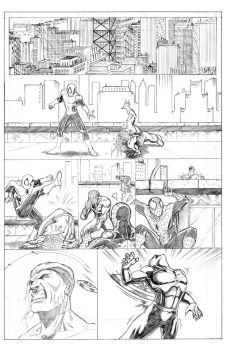 New Avengers Page 1 by Ari-Spike-Nadelman