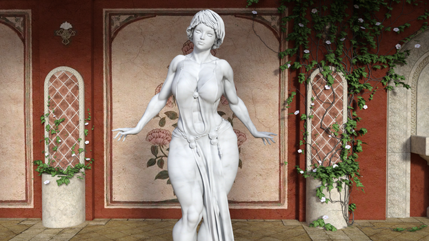 I figured out shaders! marble statue by mecha-ghost