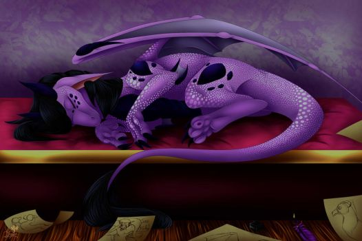 A Well Deserved Nap by VDragon-Creations
