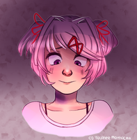 Natsuki from doki doki literature club by Cinnamoochii