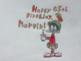 Happy 65th Birthday, Marvin the Martian! by nintendolover2010