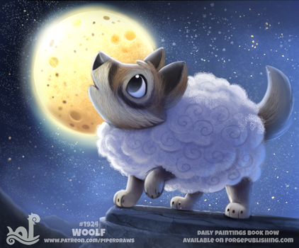 Daily Paint 1924# Woolf by Cryptid-Creations