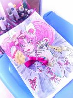 CHIBIUSA WATERCOLOR assemblage by Cipple