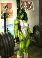 She Hulk commission colors by vic55b