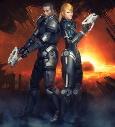 Mass Effect + Metroid by Nightingale122