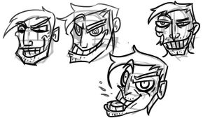 Obnoxious faces by LutesWarmachine
