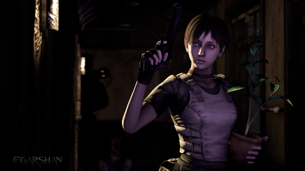 Rebecca Chambers - little S.T.A.R in the darkness by Egarshan