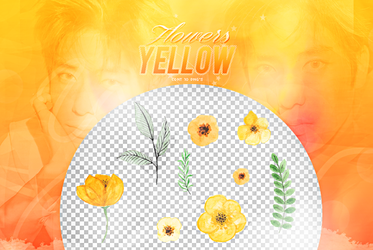 Recursos/ Flowers png/Yellow by Upwishcolorssx
