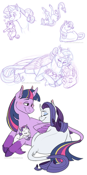 Rarilight Mommies by Arcticwaters