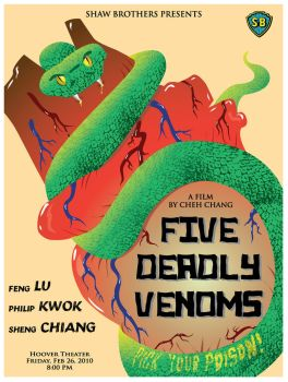 Five Deadly Venoms Poster by TroyHoover