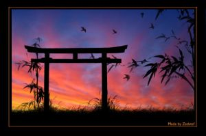 Japanese Sunset 2 by zedstef