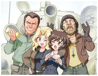 kelly's heroes and Girls und Panzer by lordsjaak