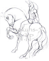 Anubis and anhur W.I.P by pookyhorse
