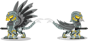 Gryphon Power Armour (Fallout Equestria) by Vector-Brony