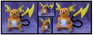 Raichu Custom Plush