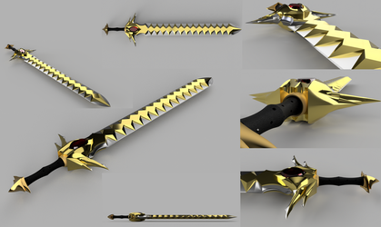 Wing's new sword 3D by wing693789