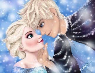 Elsa and Jack Frost by Zicue