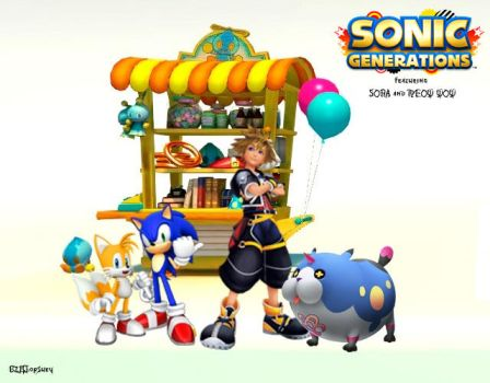 SORA, MEOW WOW in SONIC GENERATIONS by 621Chopsuey