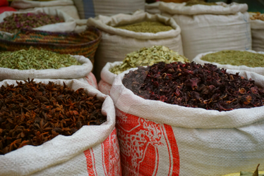 Spices in Marrakesch by rocksau