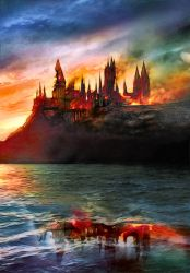 Hogwarts - The End ~ Fanart by AStoKo