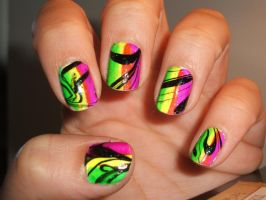 Black marbling over color by lettym
