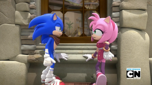 [Sonic Boom TV Series] Sonic and Amy by LuniiCookiez