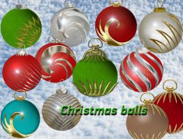 Christmas balls by roula33