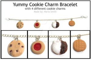 Yummy Cookie Charm Bracelet by chat-noir