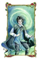 Harry Potter watercolor by MeredithDillman