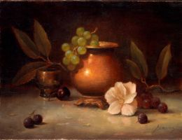 brass vase and grapes by PaulAbrams