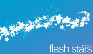 GIMP Flash Star Brushes by Graphicclouds