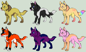 Wolf Pup Adopts 1 by Corrupt-Adopts