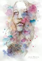 Color me I, watercolor and pencil sketch by jane-beata