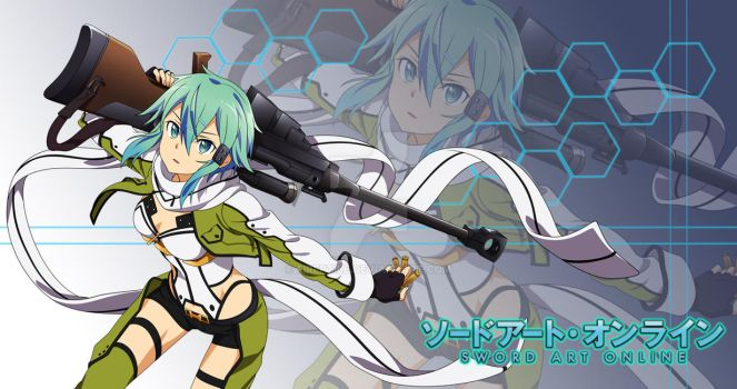 Anime Wallpaper Fan Made SAO II Sinon By FiReptile