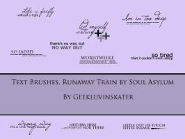 Text Brushes 'Runaway Train' by geekluvinskater