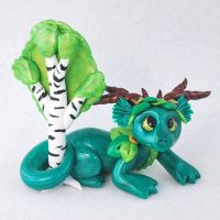 Birch Tree Forest Dragon by HowManyDragons