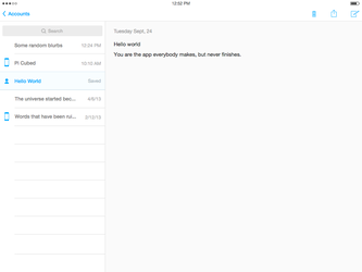 iOS 7 Notes Concept by r2ds